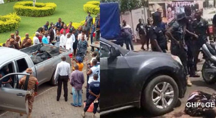 Police gunned down two robbers