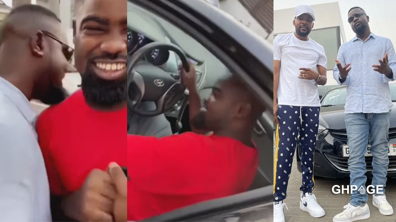 Sarkodie was only there to present the car to his fan; he didn't buy it for him