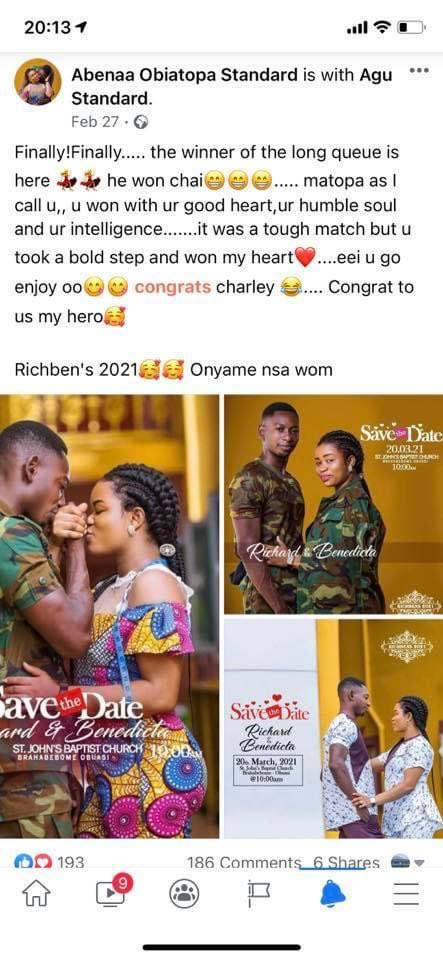 Lady vows to spoil the wedding of her ex who is a soldier after giving him Ghc 8000 to enter the army. 6