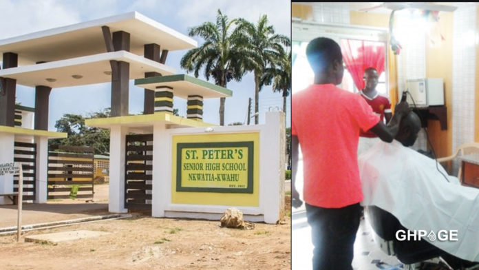 Headteacher sets-up barbering saloon to shave studentHeadteacher sets-up barbering saloon to shave students with bushy hairs with bushy hair