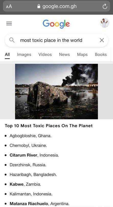 10 most toxic places in the World