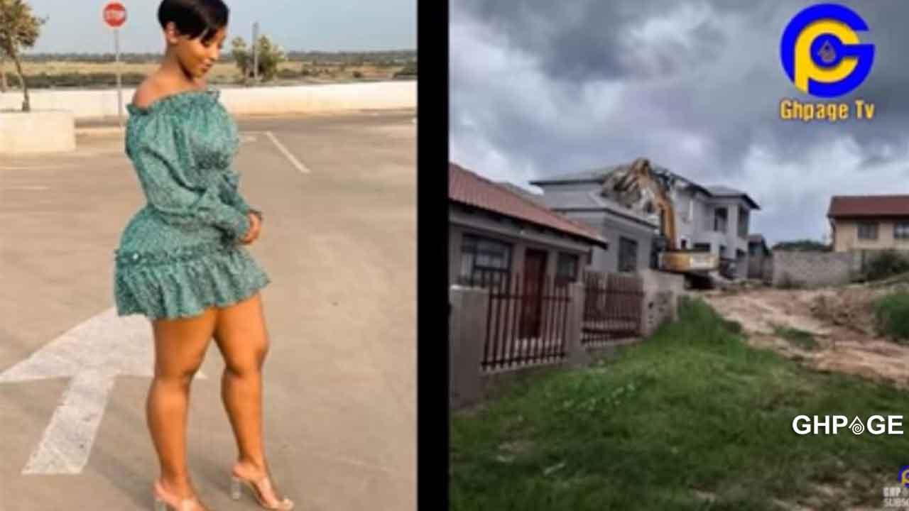 Man destroys house he built for side-chick after she dumped him