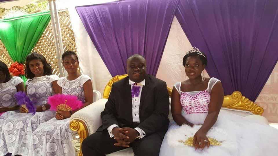 Titok star, Asantewaa and her husband, Jeffrey Obiri Boahen
