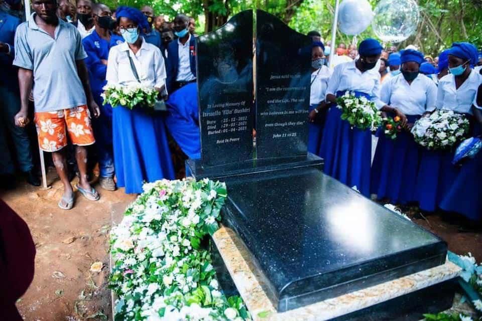 Israella Bushiri's funeral service