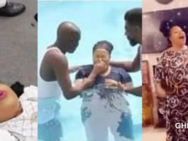 Photos of Nana Agradaa being baptized into christ surfaces