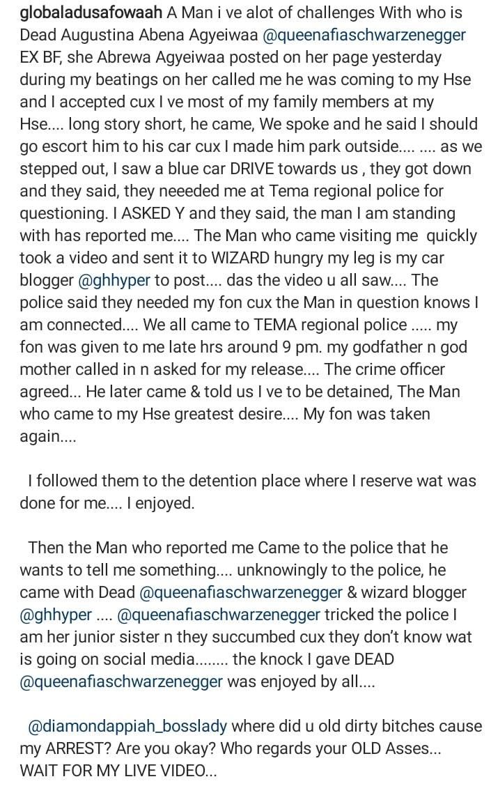Adu Safowaa details what led to her arrest