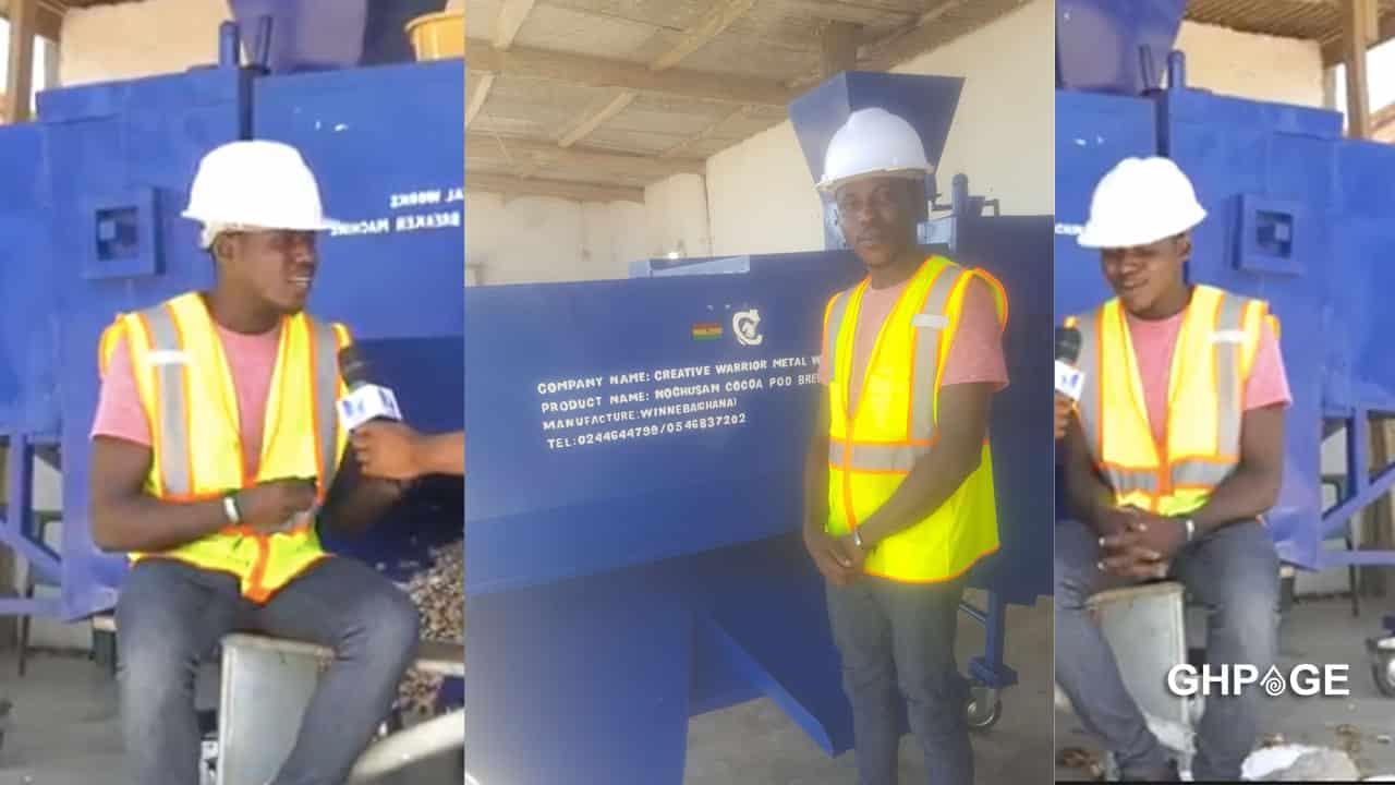Ghanaian man invents machine to help cocoa farmers