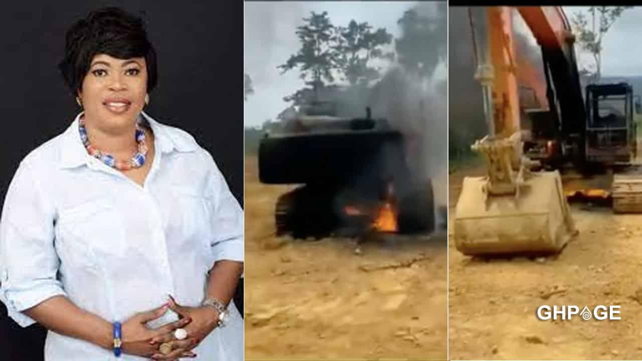 Eight excavators reportedly belonging to NPP women's organizer burnt