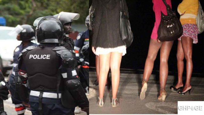 Pokuase Prostitutes Union and police