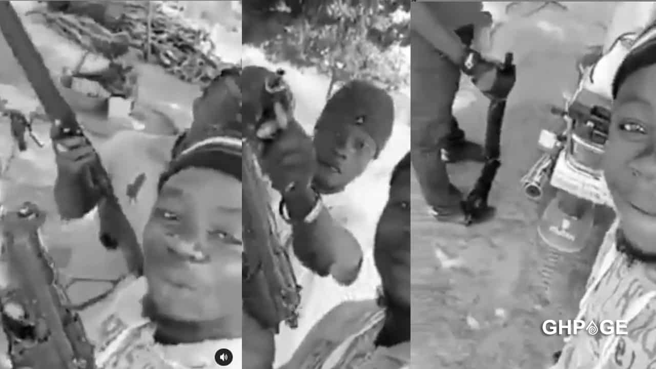Video of armed robbers warning Ghanaians goes viral