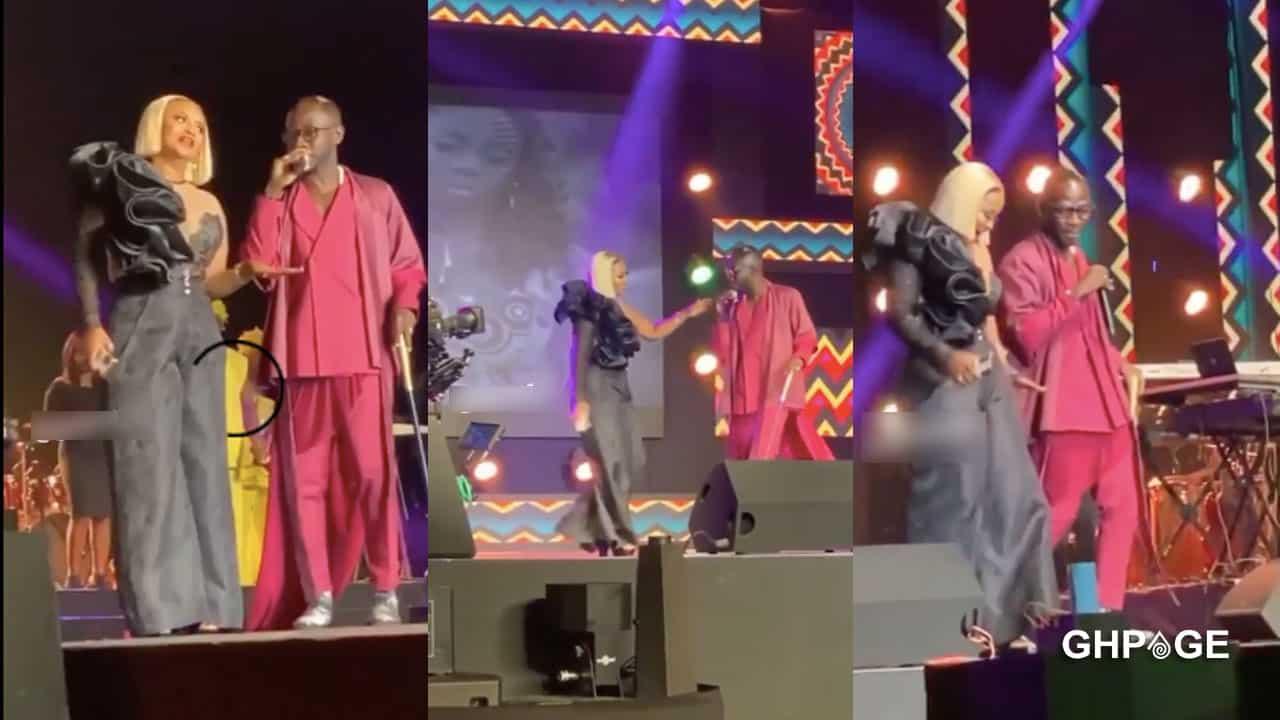 Okyeame Kwame performs with ex-girlfriend Nana Ama Mcbrown