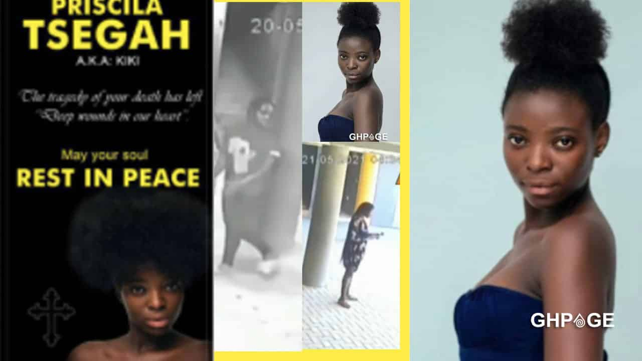CCTV footage of final moment of GH Media student, Priscilla Tsegah, murdered by friend pops up