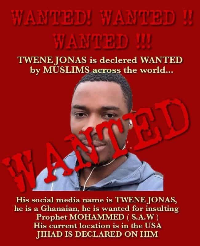Twene Jonas declared wanted