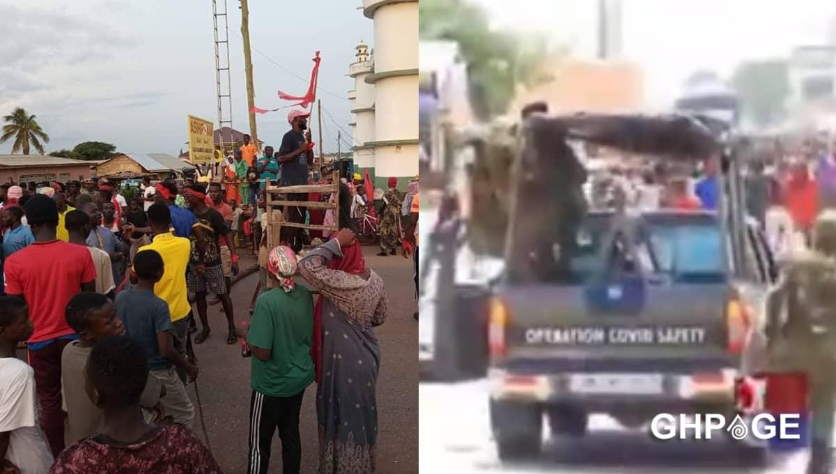 ejura military youth clash