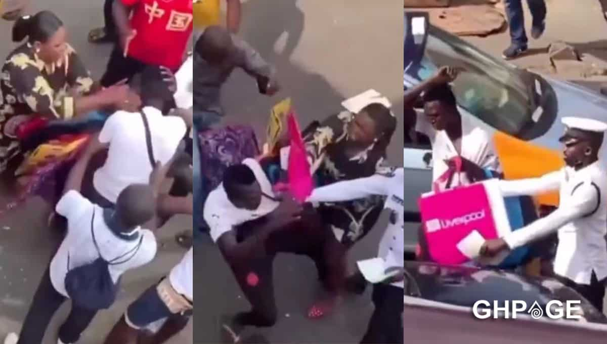 woman fights thief