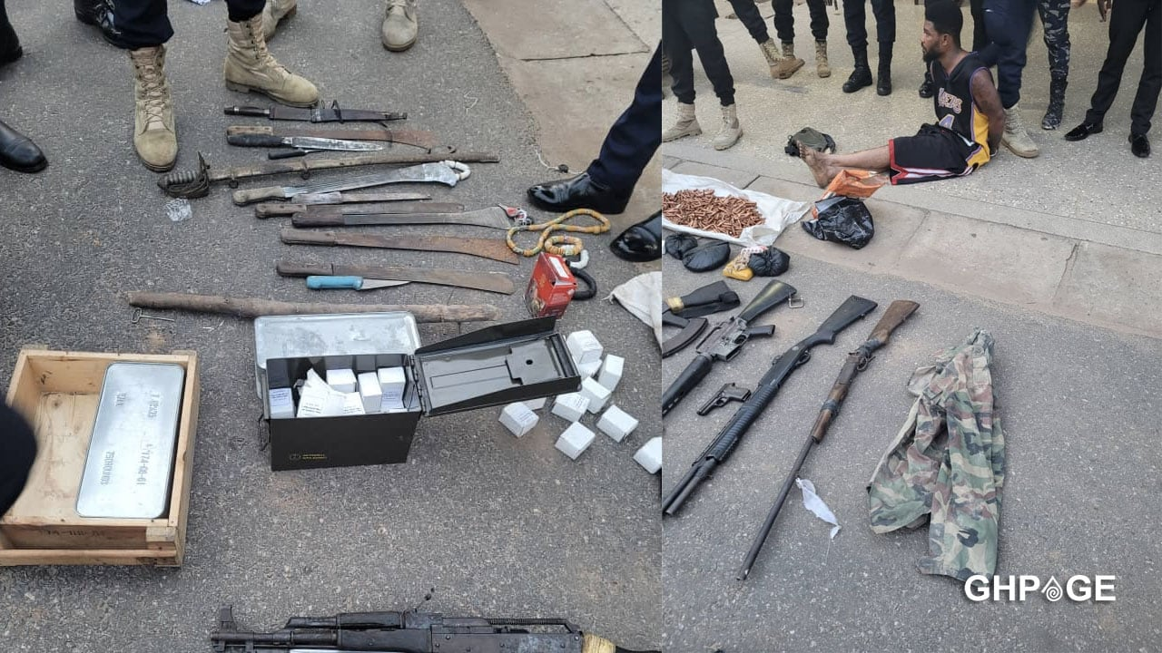 Two armed robbers shot dead, dangerous weapons retrieved at Ntoaso
