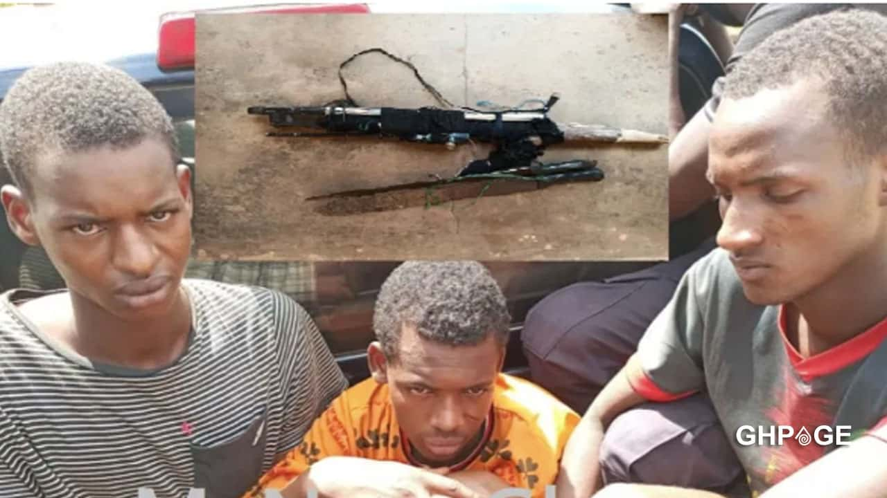 Three armed robbers jailed 135years for stealing 4 mobile phones and GHC320