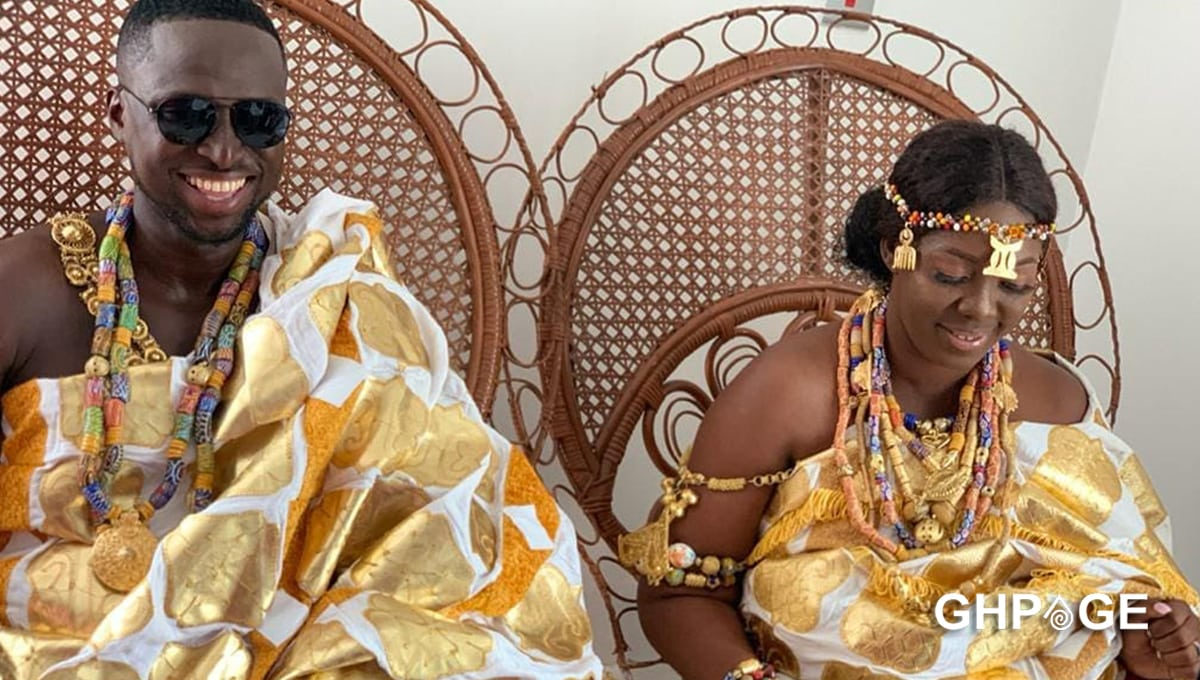 First videos from Funny Face's ex-wife Elizabeth Ntim's new marriage ceremony pop up