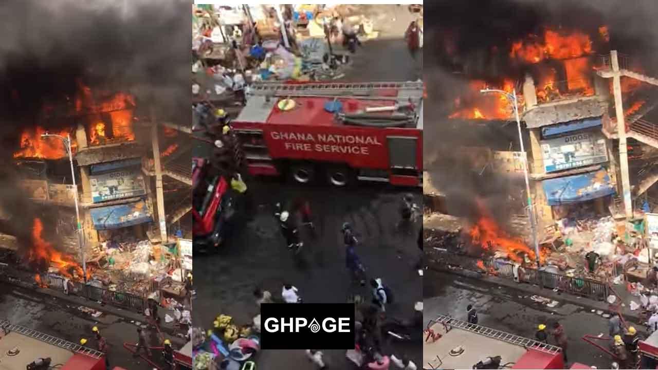 Fire at Makola market