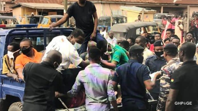 Men arrested in Agogo for insulting stick into a boy's anus