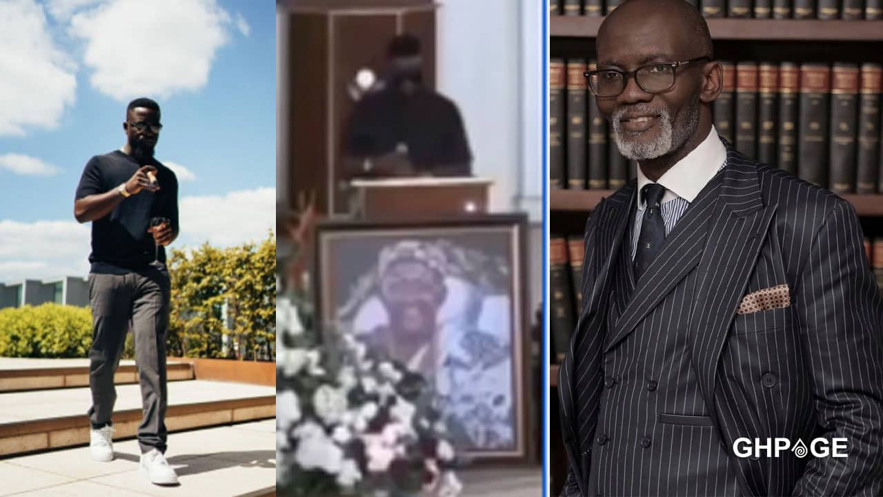Social media users applaud Sarkodie over his tribute at Gabby Otchere Darko father's burial