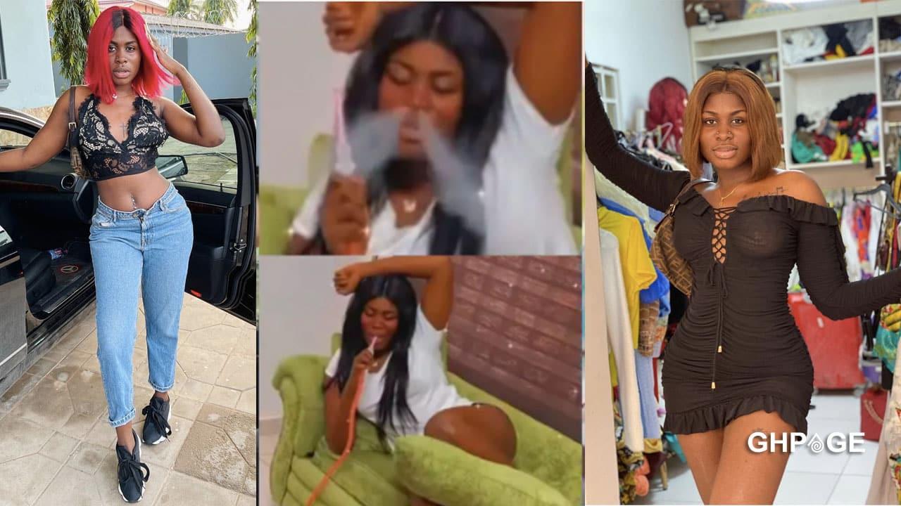 Video of Yaa Jackson smoking Shisha storms social media