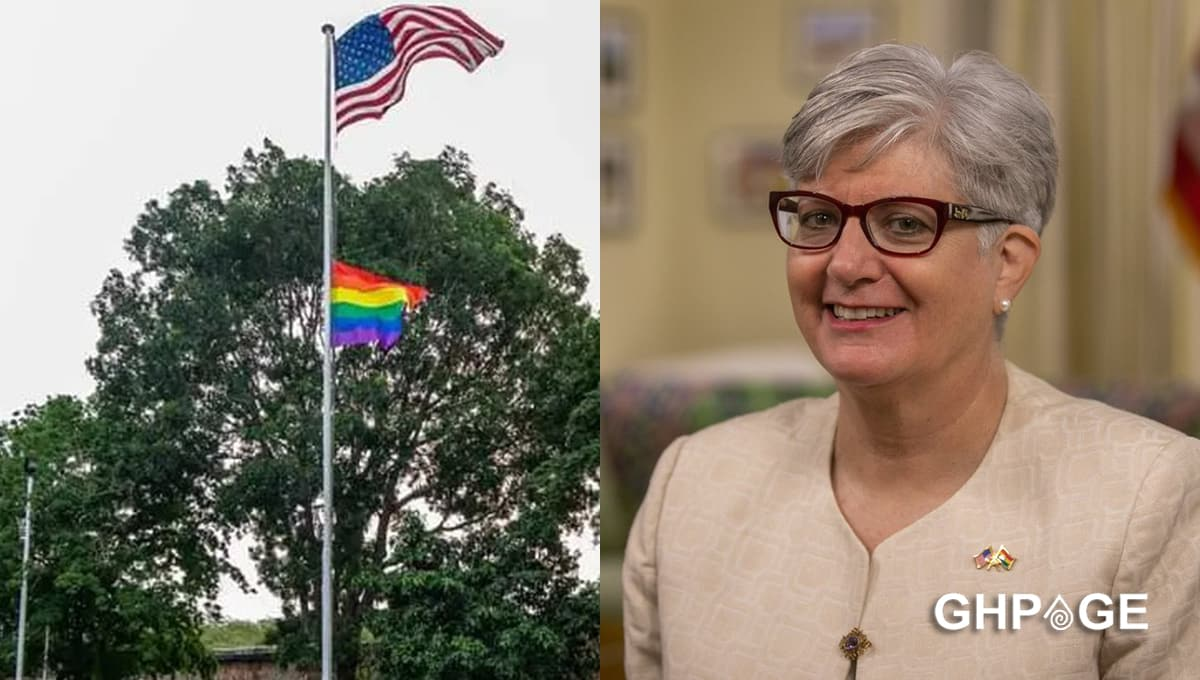 US Embassy hoists LGBTQ flag at Ghana office to show solidarity to homosexuals