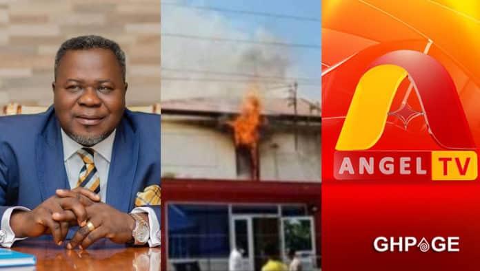 angel tv fire outbreak