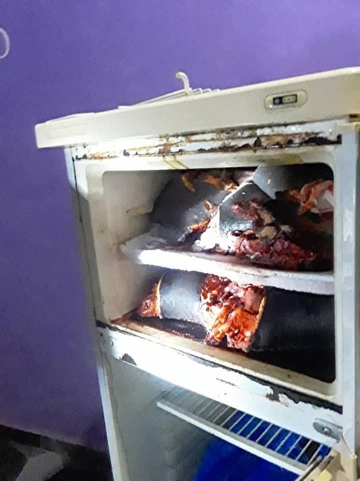 human head in fridge of Richard Gyamfi