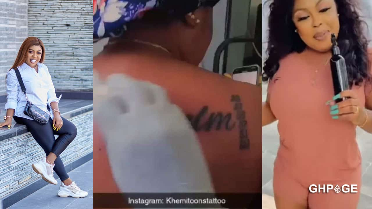 Afia Schwar tattoos 6 bible quotations from Psalm on her back