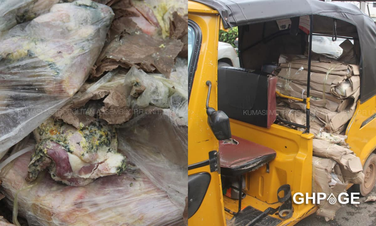 KMA seize cartons of rotthen chicken